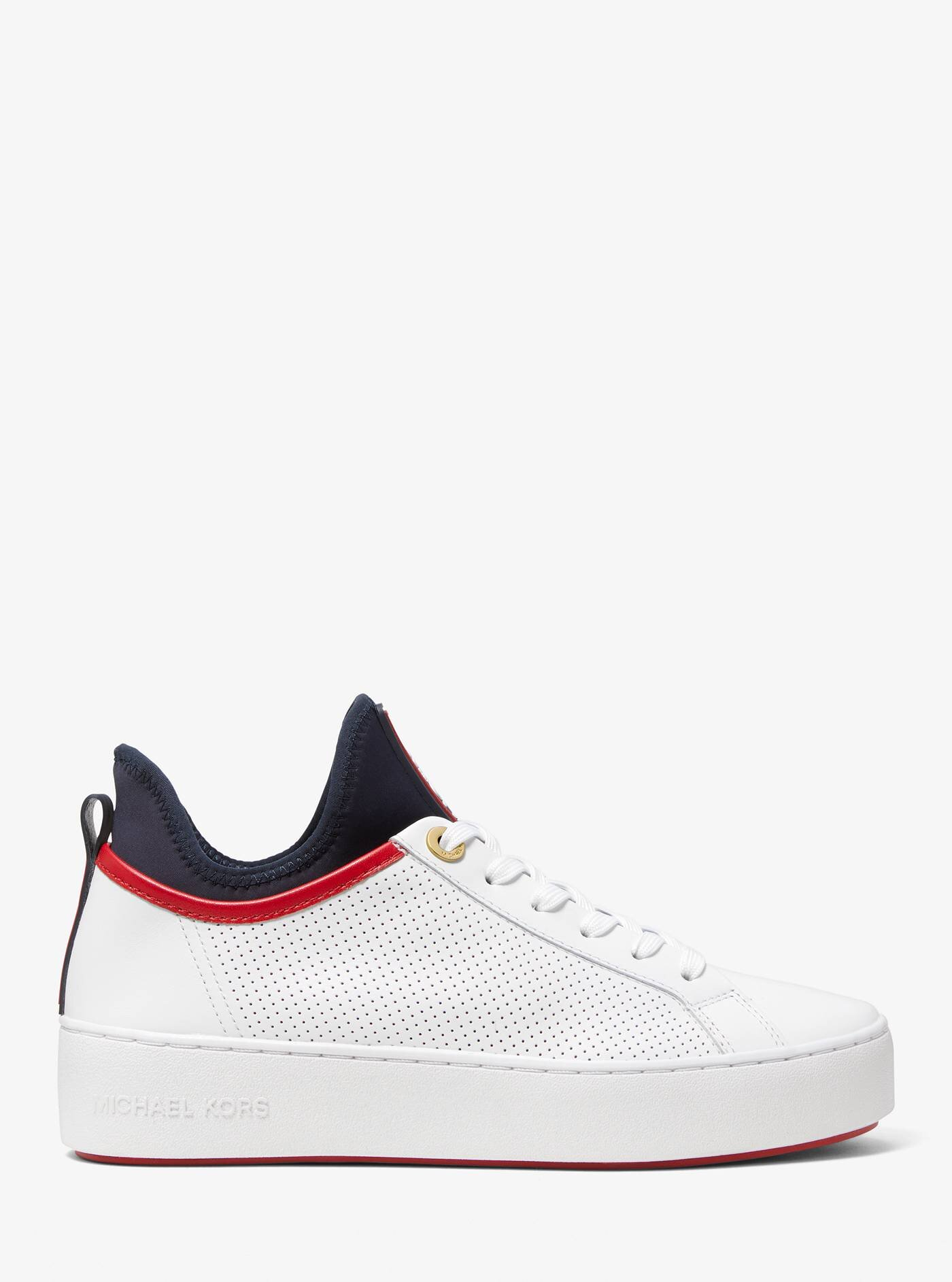 ace perforated leather and scuba sneaker