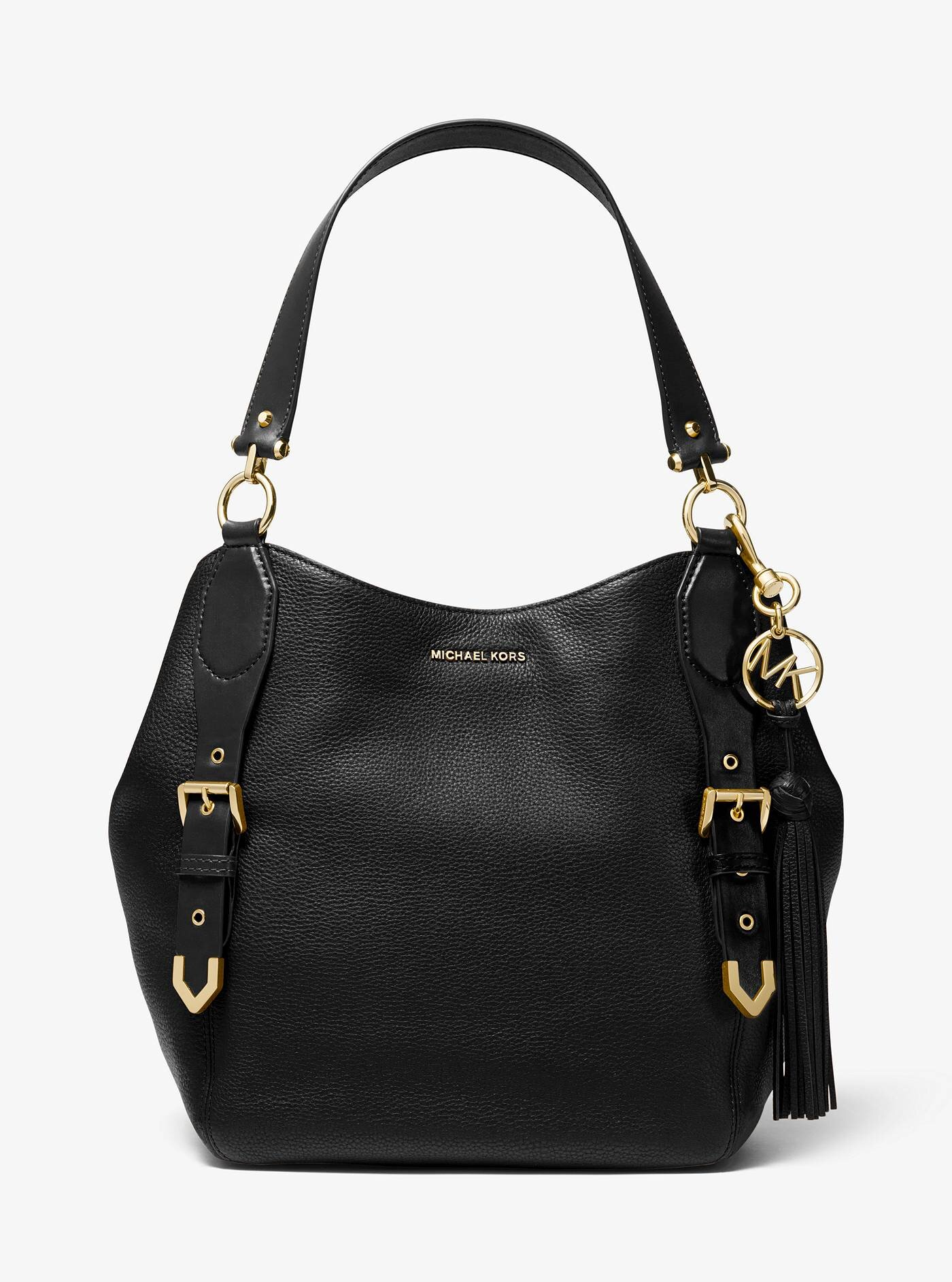 Brooke Large Pebbled Leather Shoulder Bag