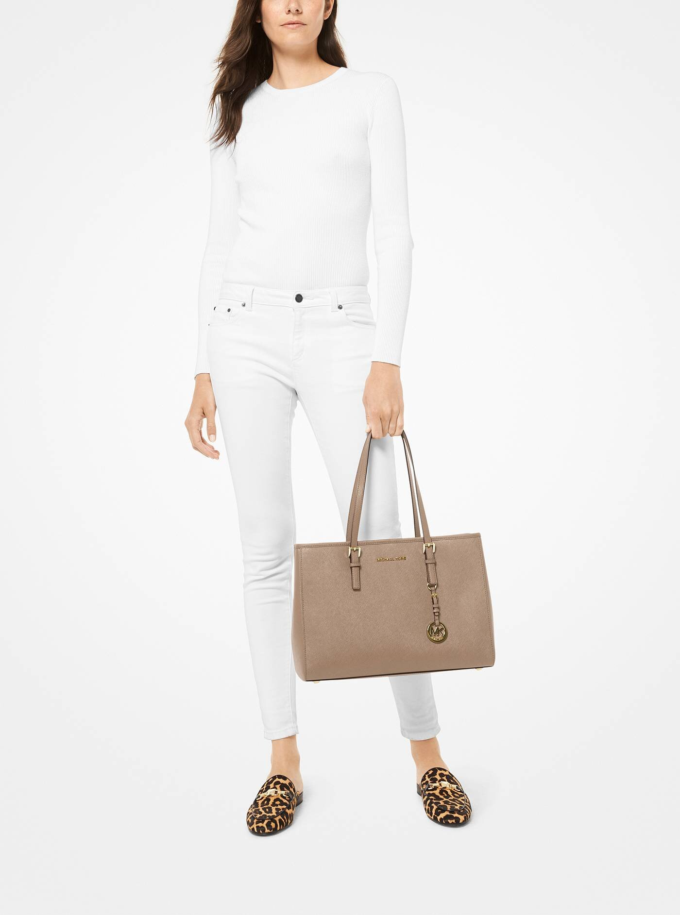 Jet Set Saffiano Leather Tote Bag