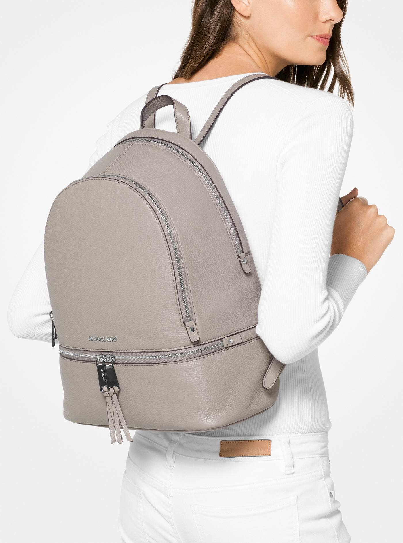 Rhea Large Leather Backpack